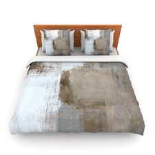 Calm and Neutral by CarolLynn Tice Fleece Duvet Cover