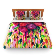 Roses are Red by Ebi Emporium Fleece Duvet Cover