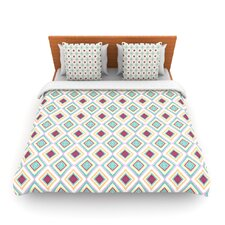 Hip Diamonds by Empire Ruhl Fleece Duvet Cover