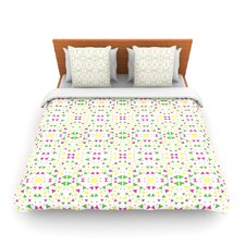 Neon Triangles by Empire Ruhl Fleece Duvet Cover