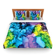Mermaids by Claire Day Fleece Duvet Cover