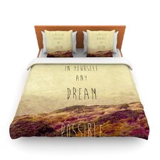 Believe by Ingrid Beddoes Fleece Duvet Cover