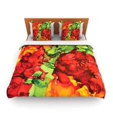 One Love by Claire Day Fleece Duvet Cover