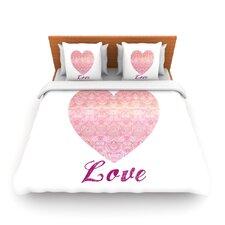 Love by Pom Graphic Design Fleece Duvet Cover
