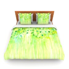 April Showers by Rosie Brown Fleece Duvet Cover