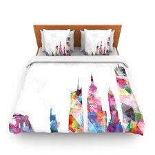 New York by Mareike Boehmer Woven Duvet Cover