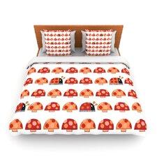 Garden Ladybugs by Jane Smith Fleece Duvet Cover