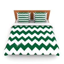 Candy Cane Green by Fleece Duvet Cover