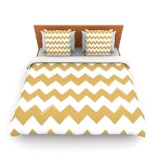 Candy Cane Gold by Fleece Duvet Cover