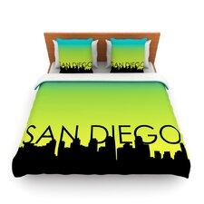San Diego by Fleece Duvet Cover