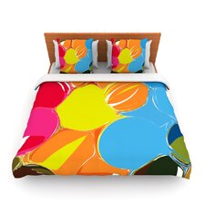 Bubbles by Matthias Hennig Fleece Duvet Cover