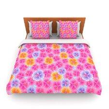 My Pink Garden by Julia Grifol Fleece Duvet Cover