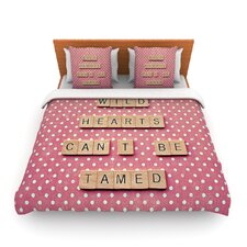 Wild Hearts Can't Be Tamed by Nastasia Cook Fleece Duvet Cover