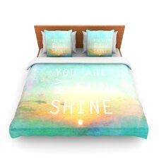 You Are My Sunshine by Alison Coxon Fleece Duvet Cover