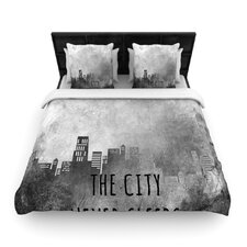 The City Never Sleeps by Alison Coxon Fleece Duvet Cover