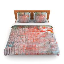 Mots de La Terre by Iris Lehnhardt Fleece Duvet Cover