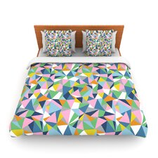 Abstraction Pink by Project M Fleece Duvet Cover