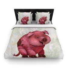 This Little Piggy by Rachel Kokko Woven Duvet Cover