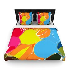 Bubbles by Matthias Hennig Woven Duvet Cover