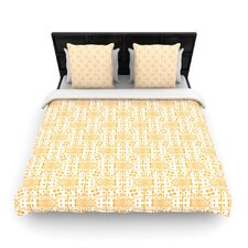 Diamonds by Apple Kaurs Woven Duvet Cover