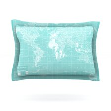 Welcome to my World by Catherine Holcombe Cotton Pillow Sham