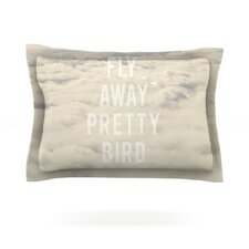 Fly Away Pretty Bird by Catherine McDonald Woven Pillow Sham