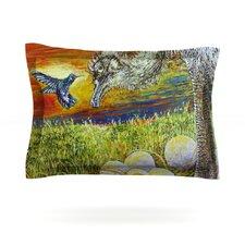 Ostrich by David Joyner Woven Pillow Sham