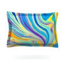 Rainbow Swirl by Ingrid Beddoes Woven Pillow Sham