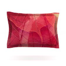 Delicate Leaves by Ingrid Beddoes Woven Pillow Sham