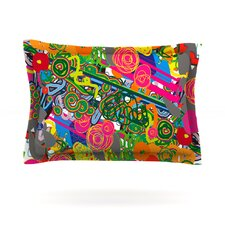 Psychedelic Garden by Frederic Levy-Hadida Cotton Pillow Sham
