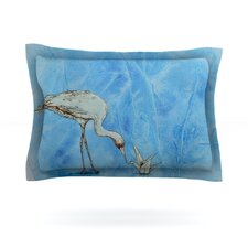 Crane by Kira Crees Cotton Pillow Sham
