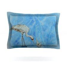 Crane by Kira Crees Woven Pillow Sham