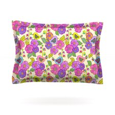 My Birds and My Flowers by Julia Grifol Woven Pillow Sham
