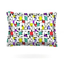 My Happy Squares by Julia Grifol Woven Pillow Sham