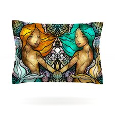 Mermaid Twins by Mandie Manzano Cotton Pillow Sham