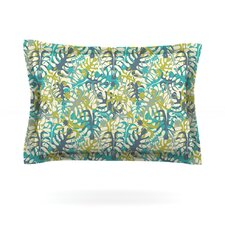 Tropical Leaves by Julia Grifol Woven Pillow Sham