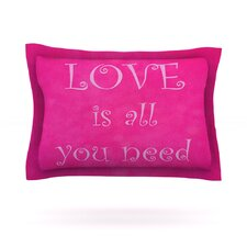 Love is all you need by Iris Lehnhardt Cotton Pillow Sham