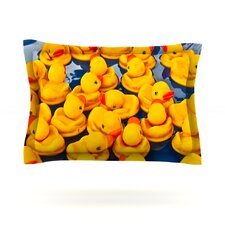 Duckies by Maynard Logan Cotton Pillow Sham