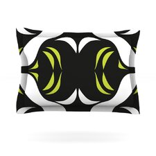 Green White Jaws by Miranda Mol Woven Pillow Sham