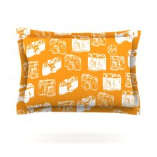 Camera Pattern Cotton Pillow Sham