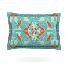 Seafoam and Orange by Miranda Mol Woven Pillow Sham