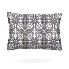 Green White Jaws by Miranda Mol Cotton Pillow Sham
