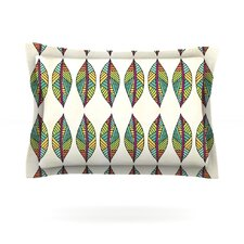 Tribal Leaves by Pom Graphic Design Woven Pillow Sham
