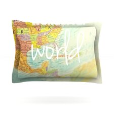 What a Wonderful World by Libertad Leal Cotton Pillow Sham