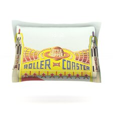 Life is a Rollercoaster by Libertad Leal Cotton Pillow Sham