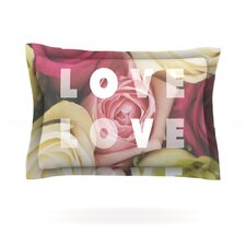 Love Love Love by Libertad Leal Cotton Pillow Sham