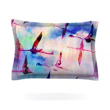 Flamingo in Flight by Nikki Strange Cotton Pillow Sham