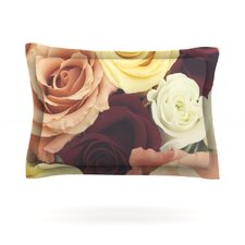 Vintage Roses by Libertad Leal Woven Pillow Sham