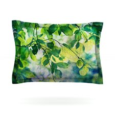 Leaves by Sylvia Cook Cotton Pillow Sham