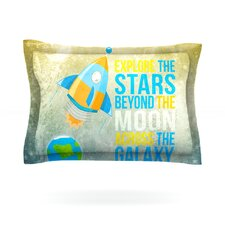 Explore the stars by Nick Atkinson Cotton Pillow Sham